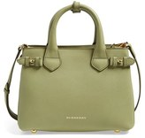 Burberry 'Small Banner' Leather Tote - Green