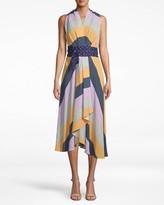 Nicole Miller Pop Stripe High Low Dress