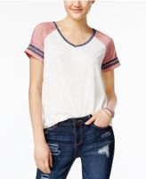 Hippie Rose Juniors' V-Neck Football T-Shirt