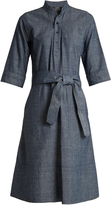 A.P.C. Oleson cotton-chambray dress