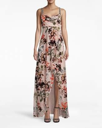 Nicole Miller Autumn Dream Burnout Hi-low Dress