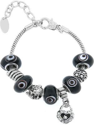 Swarovski Golden Moon Women's Bracelets Black - Black Purse Charm & Bead Bracelet With Crystals