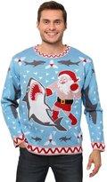 Fun Costumes mens Men's Santa vs Shark Christmas Sweater