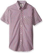 Ben Sherman Men's Short Sleeve House Check Button Down Shirt