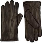 Barneys New York Men's Fur-Lined Nappa Leather Gloves