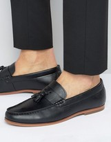Lambretta Tassel Loafers In Black