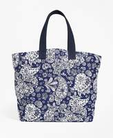 Brooks Brothers Paisley Canvas Tote Bag