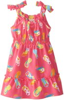 Youngland Little Girls' Flip Flop Printed Sundress