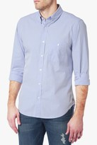 7 For All Mankind Long Sleeve Oxford Shirt In Sky Blue