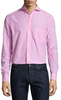 Eton Micro-Gingham Long-Sleeve Sport Shirt, Pink