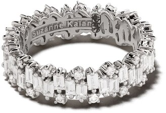 Suzanne Kalan 18kt white gold Shimmer diamond eternity band