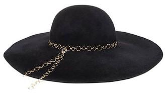Eugenia Kim Bunny Chain-Trimmed Wool Sun Hat