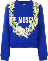 Love Moschino front logo floral sweatshirt