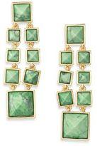 Stephanie Kantis Cascade Green Turquoise Howlite & 24K Yellow Gold Chandelier Earrings