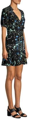 Parker Talisa Floral Combo Flounce A-Line Dress