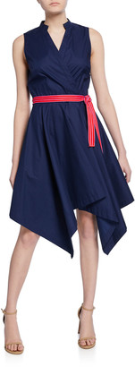Diane von Furstenberg Marlene Sleeveless Poplin Wrap Dress