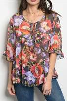 Easel Floral Blouse