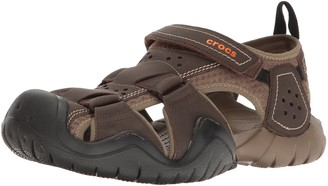 Crocs Men's Swiftwater Leather Fisherman M Sandal
