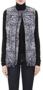The North Face WOMEN'S ABSTRACT-PRINT HEXAGON-QUILTED PUFFER VEST-GRAY SIZE XS
