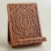 Cost Plus World Market Hand-Carved Wood Tablet Stand