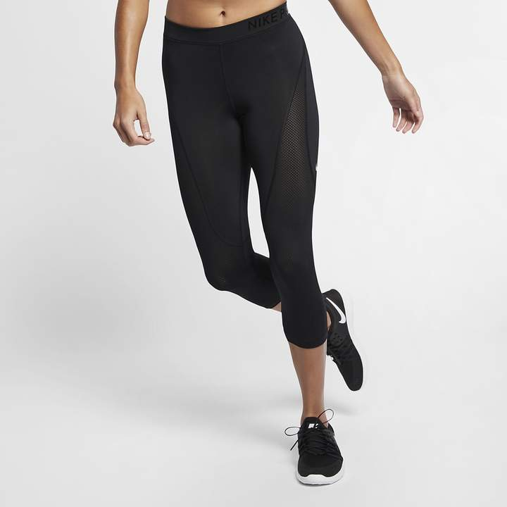 Nike Pro HyperCool Women's Mid-Rise Training Crops