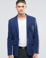 Selected Jersey Pique Blazer in Slim Fit