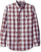 U.S. Polo Assn. Men's Long Sleeve Medium Box Plaid Sport Shirt