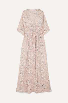 Eywasouls Malibu Liliane Floral-print Cotton-voile Maxi Dress - Blush