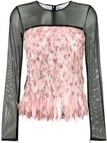 Tom Ford degrade smoke and feather top