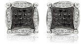 Effy Jewelry Diversa 14K White Gold Black and White Diamond Earrings