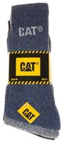 Caterpillar New Mens Multi 3 Pack Work Cotton/Polyester Socks Boot