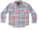 Something Strong Red & Blue Plaid Flannel Button-Up - Boys