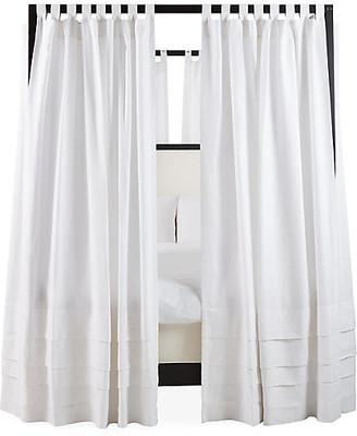 """One Kings Lane Set of 8 Nessa Canopy Bed Panels - White Linen - 90"""""""