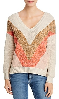 Vero Moda Color-Block V-Neck Sweater