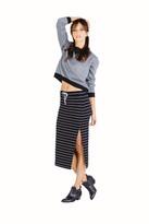 Saint Grace Jodi Midi Skirt In Cream Stripe
