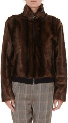 Pinko Faux-Fur Bomber Jacket