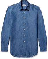 Canali Slim-Fit Slub Cotton and Linen-Blend Shirt