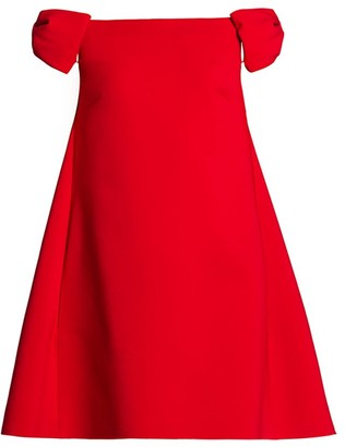 Valentino Rosso Capsule Off-The-Shoulder Shift Dress