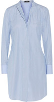 Theory Jodalee Striped Cotton-poplin Shirt Dress - Blue