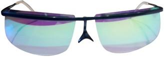 Courreges Blue Metal Sunglasses