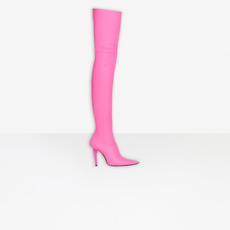 over knee boots pink