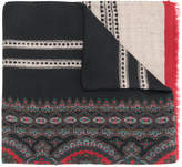 Etro printed logo scarf