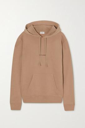 Saint Laurent Printed Cotton-jersey Hoodie - Brown