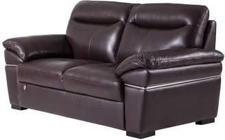 """American Eagle Furniture EK050 Ultra Modern Italian Leather Upholstered Living Room Loveseat 73"""""""