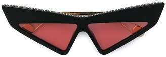 Gucci studded futuristic sunglasses