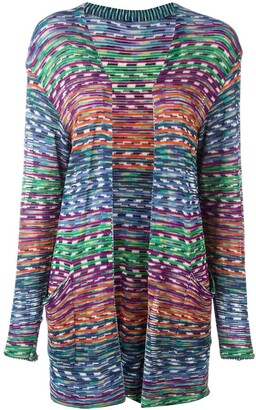 Missoni Pre Owned 2000 Open Front Knitted Cardigan