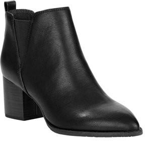 Melrose Ave Vegan Leather Slip-on Block Heel Bootie (Women's)