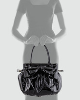 Valentino Double-Handle Lacca Hobo Bag, Nero