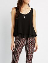 Charlotte Russe Double Layered Tank Top