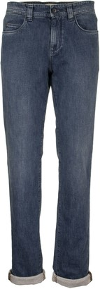 Loro Piana 5 Tasche Slim Cotton Trousers Denim